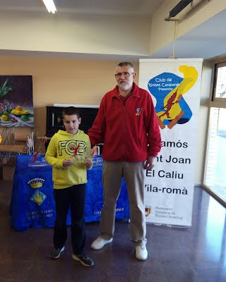 Abel Caballé, 2n classificat infantil